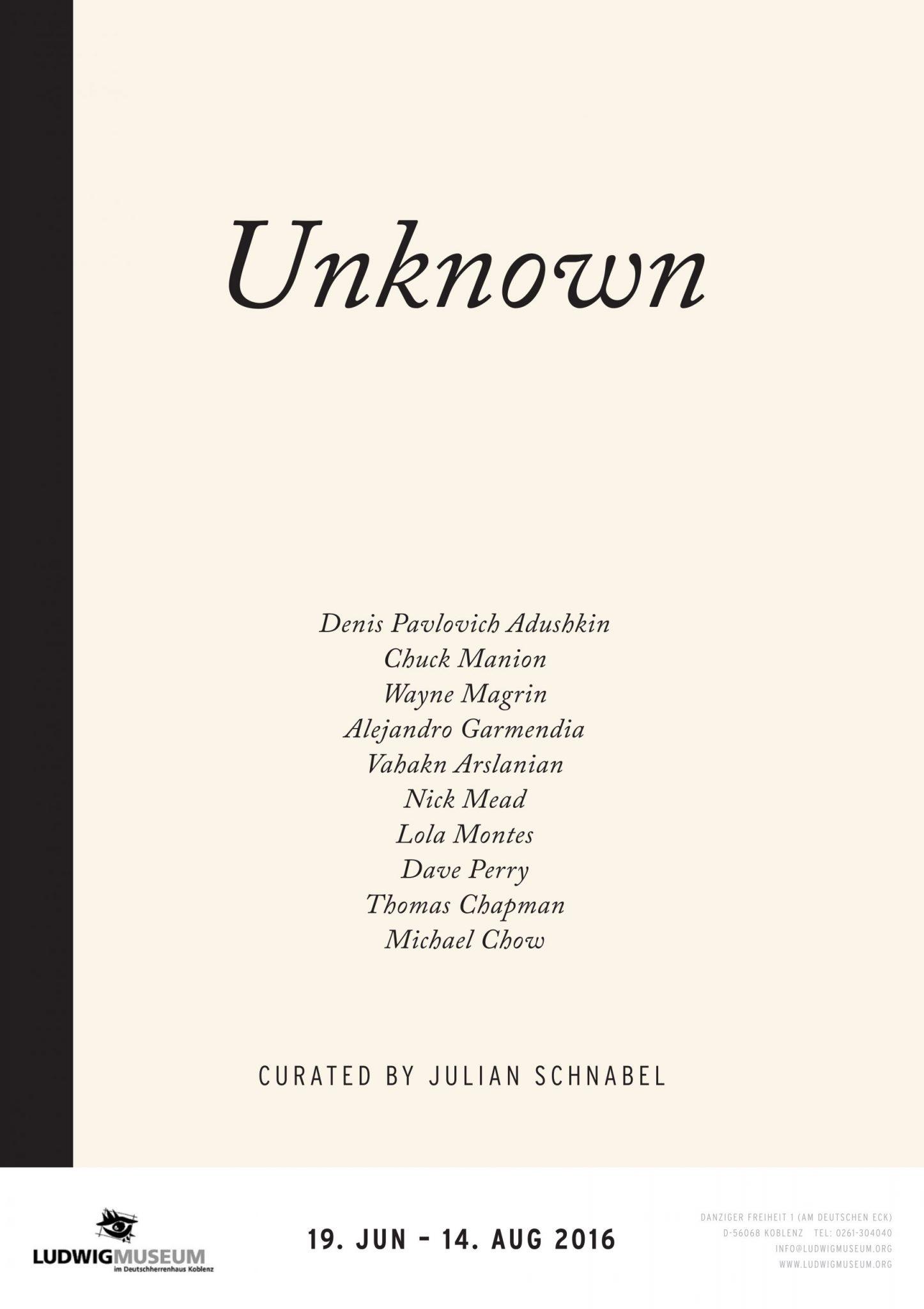 Shop Katalog Cover Buch Unknown Julian Schnabel