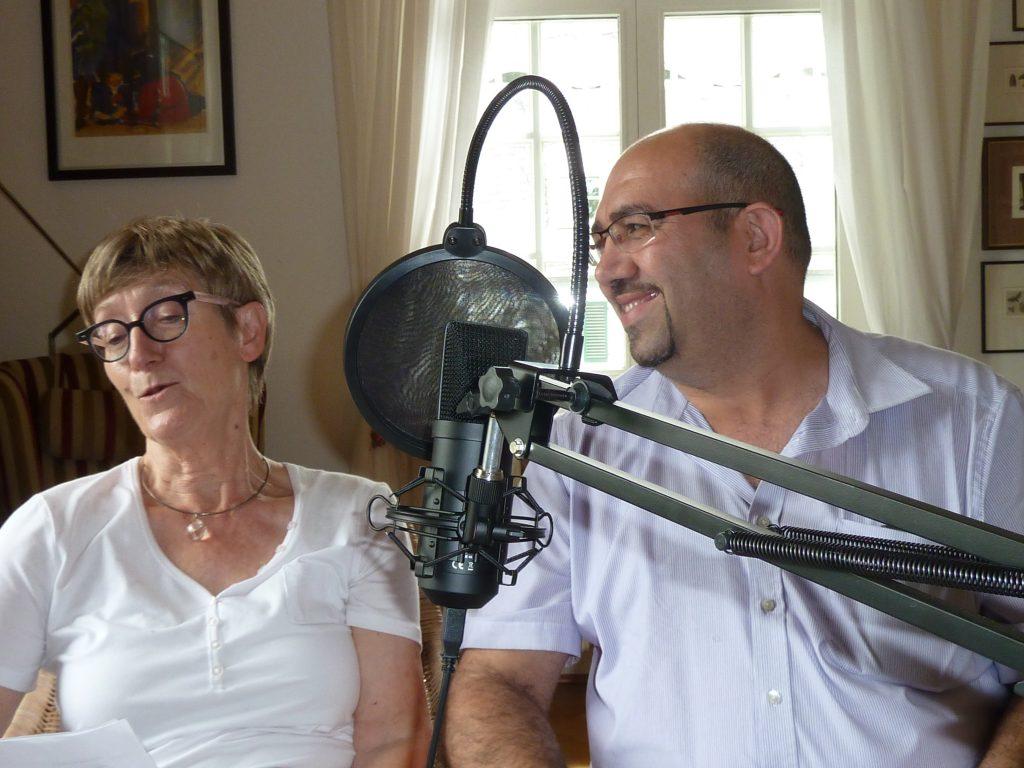 Audioguide: Mitglieder des Vereins Lesen & Buch bei den Aufnahmen für den Audioguide Foto: Marko Sommer