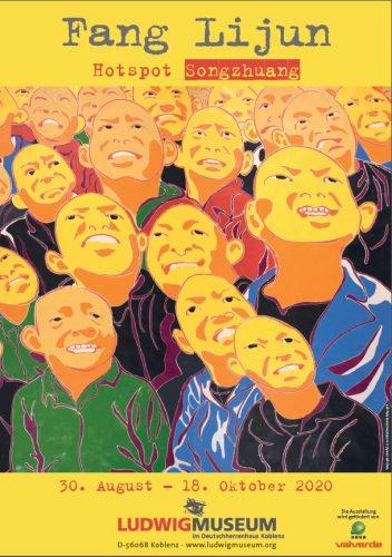 """Ausstellungsplakat """"Hotspot Songzhuang"""", Motiv (C) Fang Lijun"""