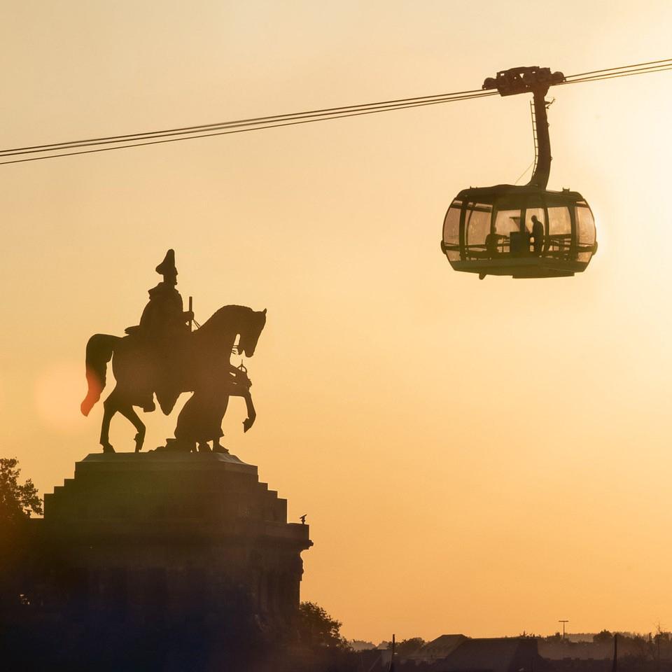 Deutsches Eck, Seilbahn und Kaiserdenkmal, Foto: Ilya Pusenkoff 2018.